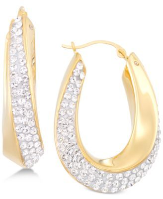 09570f63a4b3a Swarovski Crystal Hoop Earrings in 14k Gold over Resin, Created for ...