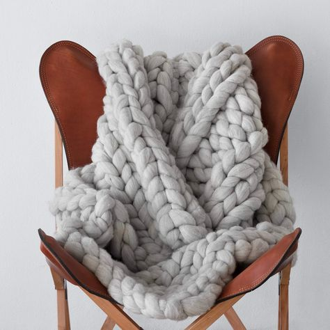 The Citizenry Nublado Throw Grey is part of Home Accessories Grey Living Rooms The Citizenry Nublado Throw Grey Browse inspirational photos of modern homes From midcentury modern to prefab housi - Knitted Blankets, Merino Wool Blanket, Chunky Knit Throw Blanket, Mermaid Blanket, Living Room Grey, Living Rooms, Craft Stick Crafts, Diy Crafts, Texture