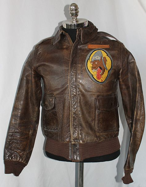 Check out the deal on WWII Jacket as worn in Korean War by Fighter Squadron Pilot Col. Tanner at Flying Tiger Antiques Online Store