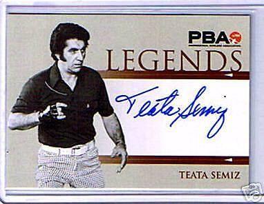 Pba Bowling Legends Teata Semiz Autograph Card Legend Bowling Autograph