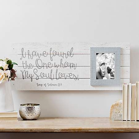 My Soul Loves Plank Wedding Picture Frame 5x7 Kirklands Love Picture Frames Wedding Picture Frames Picture Frames