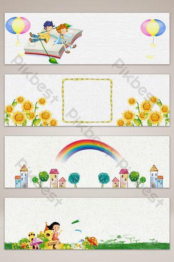 رياض الأطفال والتعليم والتدريب راية الملصقات الخلفية Pikbest Backgrounds Preschool Classroom Decor Education And Training Hand Art Drawing