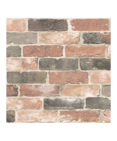 Love This Faded Red Newport Reclaimed Brick Peel Stick Wallpaper On Zulily Zulilyfinds Nuwallpaper Red Brick Wallpaper Brick Wallpaper