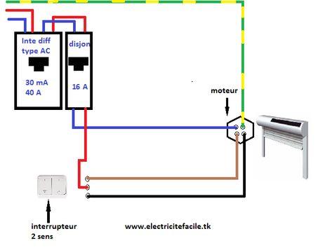 Schéma de câblage télérupteur bipolaire électricité générale