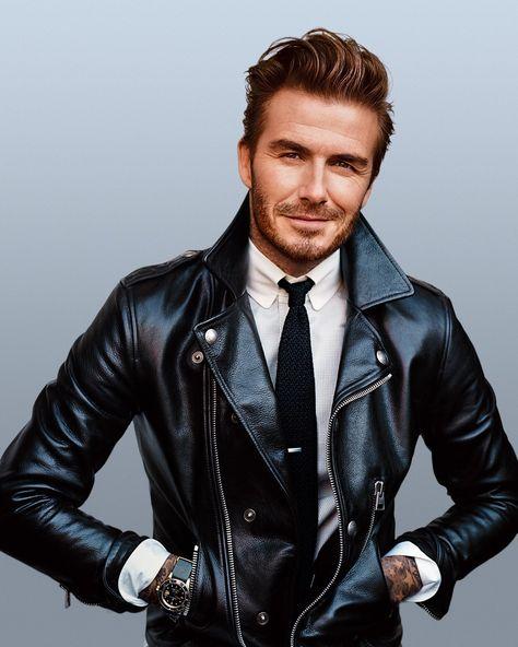David Beckham Leather Jacket Motorcycle Style - So