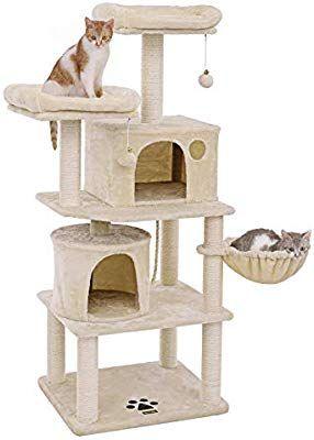 Amazon Com Songmics Multi Level 60 Cat Tree With Sisal Covered