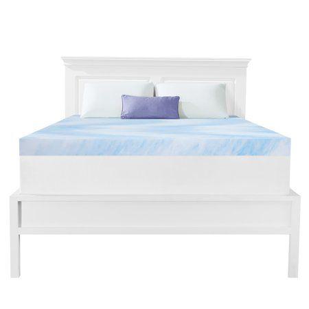 Dream Serenity Gel Memory Foam 3 Mattress Topper 1 Each King Walmart Com Mattress Topper Best Mattress Foam Mattress Topper