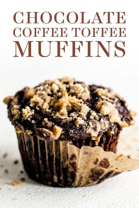 Chocolate Coffee Toffee Crunch Muffins feature a moist mocha muffin base that's . Kuchen , Chocolate Coffee Toffee Crunch Muffins feature a moist mocha muffin base that's . Chocolate Coffee Toffee Crunch Muffins feature a moist mocha muffi. Cupcake Recipes, Baking Recipes, Dessert Recipes, Donut Recipes, Coffee Recipes, Baking Ideas, Food Cakes, Baking Cakes, Brunch Recipes