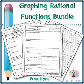 Graphing Rational Functions Bundle Rational Function Algebra