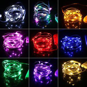 Luces De Navidad 1 M 2 M Cobre Impermeable Mini Hadas Cadena Luz Decoracion Para El Hogar Boda Operado Por Cr2032 Bateria Leds Decoracao Decoracao Festa