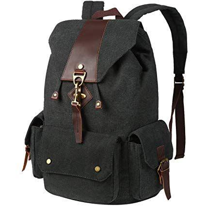 Vbiger Canvas Backpack Casual Shoulder Bag Large Capacity
