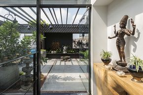 Terrace Design And Covering Ideas Terrace Entranc In 2020 Terrace Design Glass Roof Terrace