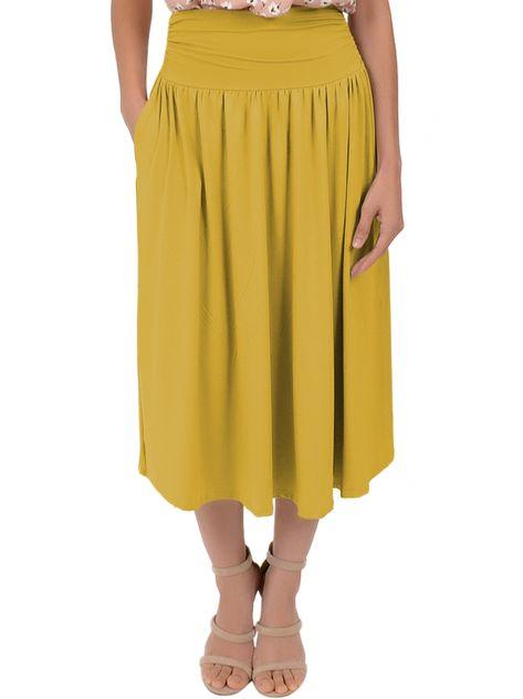 Plus Size MIDI POCKET Skirt
