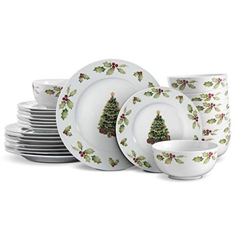 Pfaltzgraff Christmas Day 24 Piece Dinnerware Set Servic Https Www Amazon Com Dp B075ns9z22 Ref Cm Sw Dinnerware Set Stoneware Dinnerware Sets Dinnerware