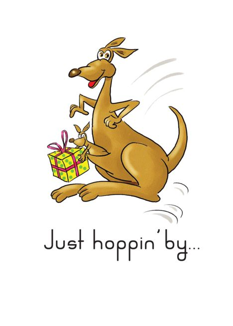 Happy Birthday For Child Kangaroos With Present Card Ad Ad Child Birthday Happy Card Kids Birthday Cards Greeting Cards Cool Cards
