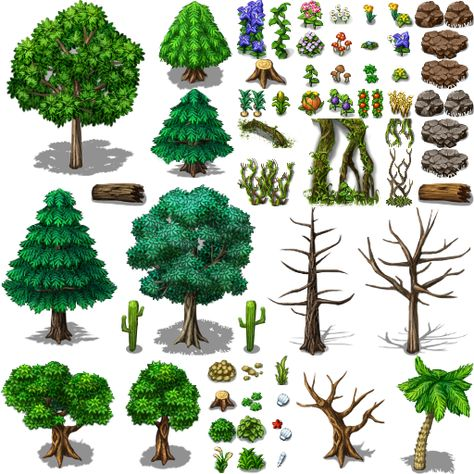 rpg maker, trees and nature