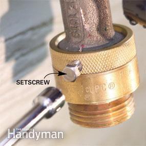 Fix Leaks at the Garden Hose Spigot