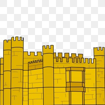 Yellow City Wall Castle Vector Yellow City Wall Castle Tile Png Transparent Clipart Image And Psd File For Free Download Castle Vector Castle City Silhouette