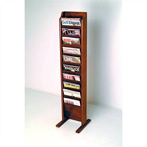 LBWT Metal Bookshelf Color : Gold File Holder Newspaper and Magazine Rack Wrought Iron Magazine Rack Study Desktop Box Office Living Room Study