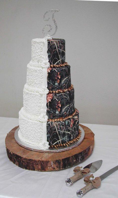 Realtree Camo Wedding Cake Elegant Cly Realtreecamo Camoweddingcake Pinterest Cakes And