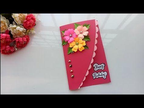 Beautiful Handmade Birthday Card Birthday Card Idea Youtube Handmade Birthday Cards Simple Birthday Cards Birthday Cards