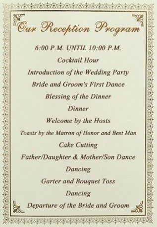 Wedding Reception Program Ideas Timeline 27 Ideas For 2019 Wedding Reception Program Wedding Reception Schedule Wedding Reception Timeline