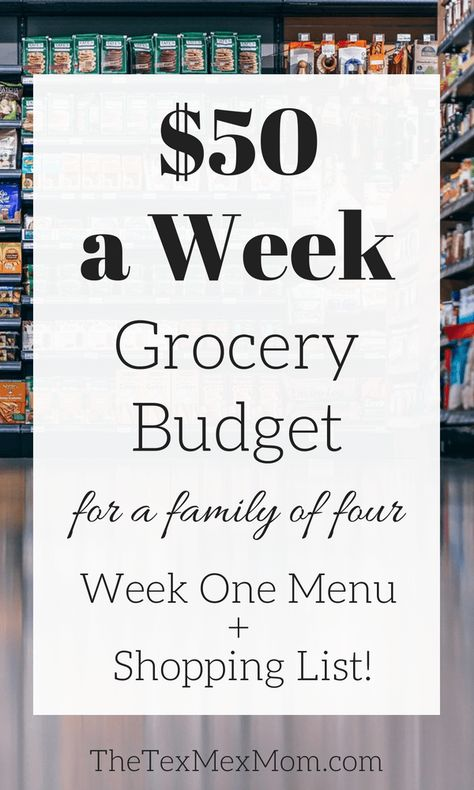 50 Weekly Grocery Budget Week 1 The TexMex Mom Budget Grocery Lists, Cheap Grocery List, Monthly Budget, Shopping Lists, Weekly Budget, Monthly Expenses, Grocery List Healthy, Grocery Checklist, Sample Budget