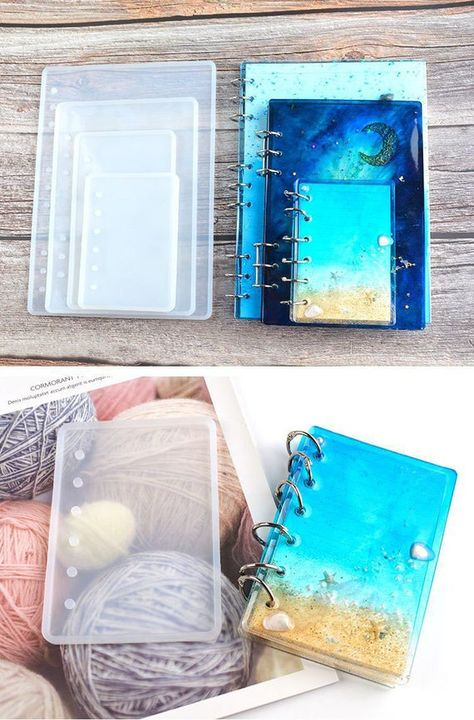 Diy Silicone Molds, Resin Molds, Clear Silicone, Diy Resin Mold, Diy Resin Art, Epoxy Resin Art, Diy Resin Crafts, Diy Epoxy, Diy Notebook