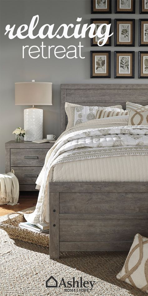 Your bedroom is a place to unwind. Create a relaxing retreat with calm colors and cozy bedding.