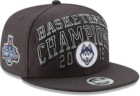 New Era Men's Gray UConn Huskies 2019 AAC Women's Basketball Conference Tournament Champions 9FIFTY Adjustable Snapback Hat