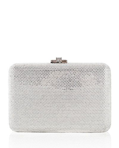 Judith Leiber New Diamond Crystal Evening Clutch Bag, Silver/Multi