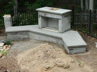 Custom Diy Fireplace Built Using A Construction Plan 1000 Outdoor Fireplace Plans Diy Outdoor Fireplace Outdoor Fireplace Patio