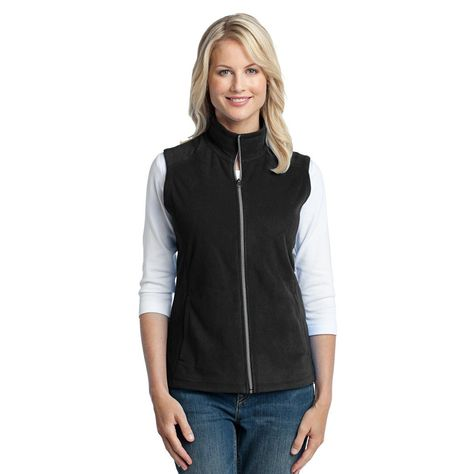627f41afa5b Port Authority Women s Black Microfleece Vest