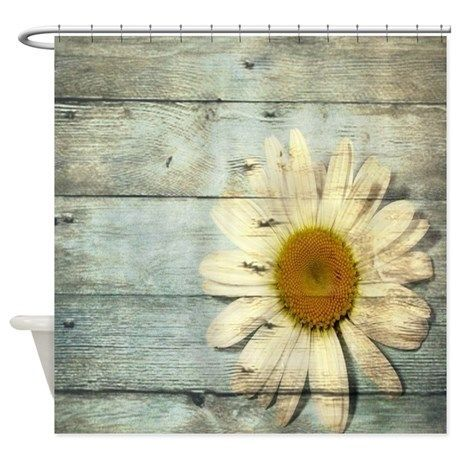 Shabby Chic Country Daisy Shower Curtain By Focusedonyou Shabby