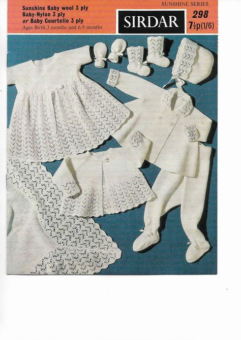 db52f0550a7a Baby Layette Knitting Pattern PDF Baby e patterns Hat Cardigan Baby ...