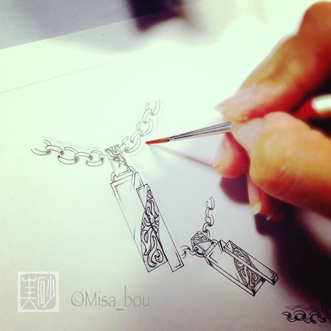 drawing jewelry design jewelry studio Misabou http://misa-bou.com