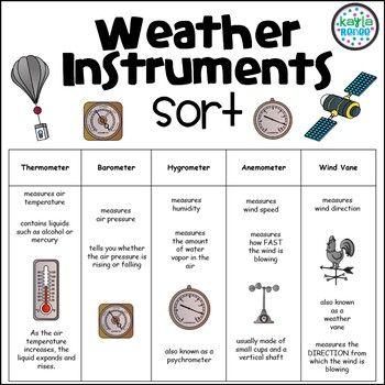 Pin On Azsunset Literacy 4 12 Weather tools worksheet