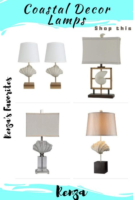 Shop The Look Coastal Lamps For Beach House Decor Ad Lamps