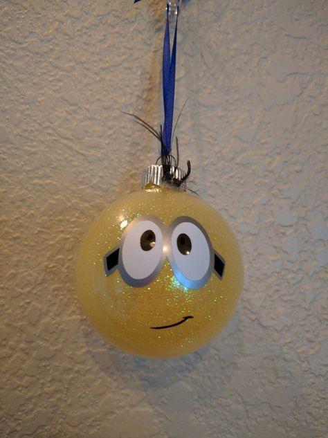 minion christmas ornament by colocustomcreations on etsy - Minion Christmas Ornament