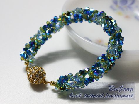 bead_tutorial: [Tutorial] Flower Spiral #1 love the colors...