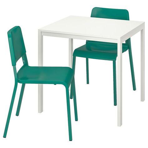 Melltorp Teodores Tisch Und 2 Stuhle Weiss Grun Grun