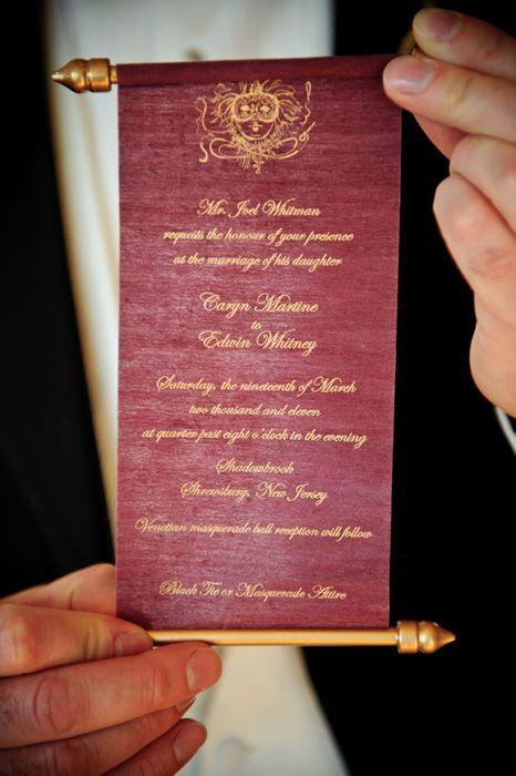 Personalized Scroll Wedding Invite | Fairytale Wedding Inspiration