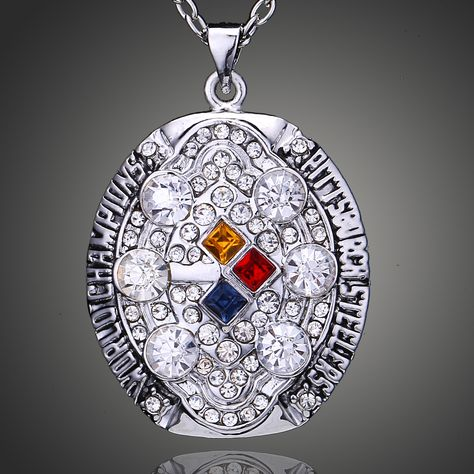 2b13b07fa Imitation Paved 2008 Pittsburgh Steelers Men Necklace Wholesale Super Bowl  Champ Merchandise for Sale D00332