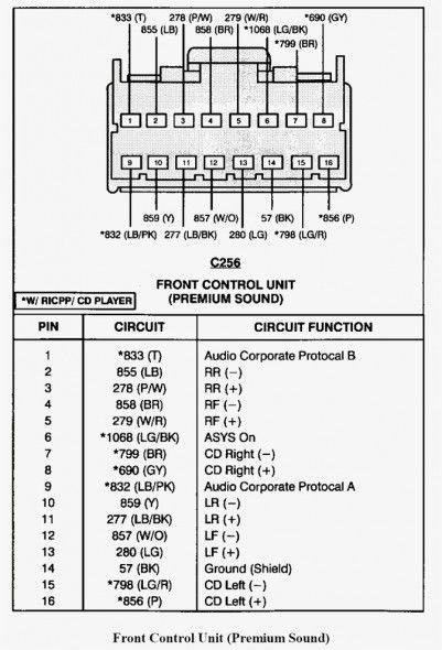 2005 ford explorer radio wiring diagram  ford explorer