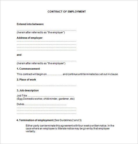 11+ Job Contract Templates u2013 Free Word, PDF Documents Download - contract sample
