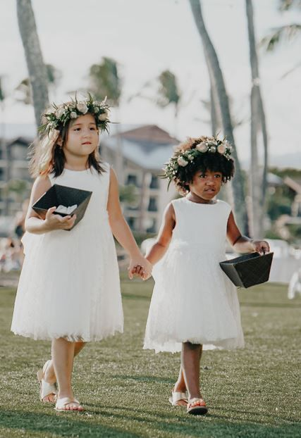 In Hawaii, we call them keiki Haku Leis   Wedding Designed