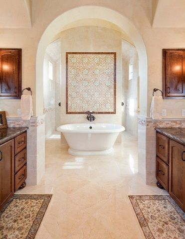 An Introduction To Mediterranean Style Bathrooms Mediterranean Bathroom Mediterranean Homes Mediterranean Decor