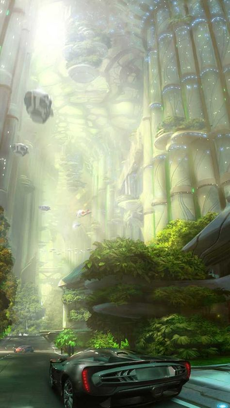 Maxim Revin is a conceptual artist and illustrator based in Moscow, Russia. Beautiful stuff … a must for every single fan of futuristic digital art. Fantasy Kunst, Sci Fi Fantasy, Fantasy World, Fantasy Dragon, Concept Art Landscape, Fantasy Landscape, Futuristic City, Futuristic Architecture, Cyberpunk City