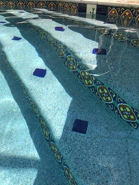 mexican tile designs pool gallery
