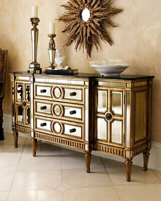 Advertisement Bernhardt Horchow Allure Golden Mirrored Buffet Sideboard Credenza In 2020 Gold Home Decor Mirrored Furniture Mirror Buffet